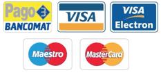 POS e carte di credito accettate Taxi Cortina