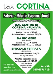 Servizio sostitutivo Funivia Faloria